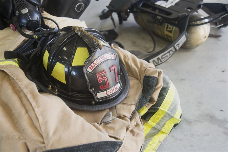 firefighter hat and uniform